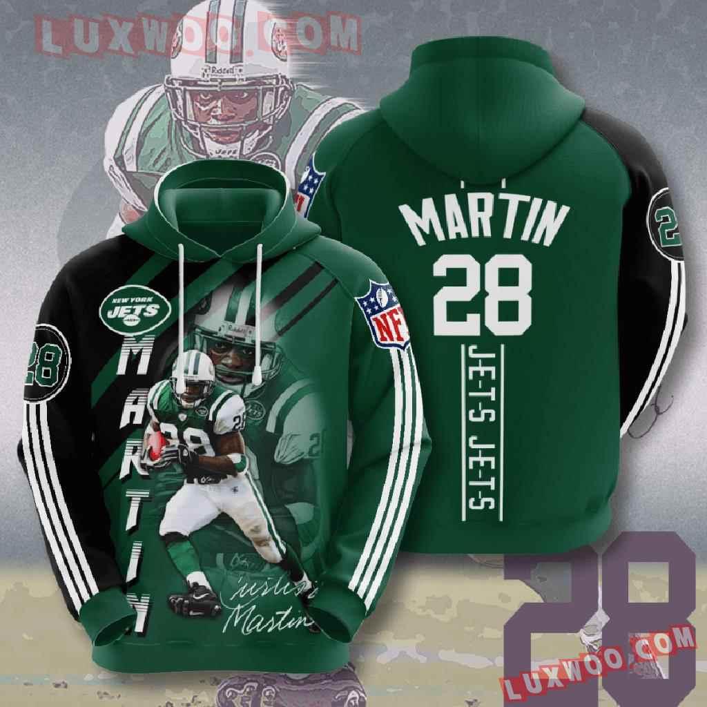 Nfl New York Jets 3d Hoodies Printed Zip Hoodies Sweatshirt Jacket V11