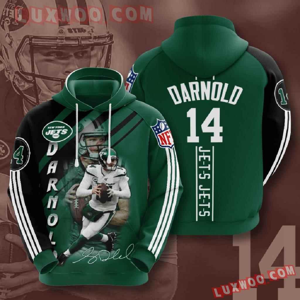 Nfl New York Jets 3d Hoodies Printed Zip Hoodies Sweatshirt Jacket V12