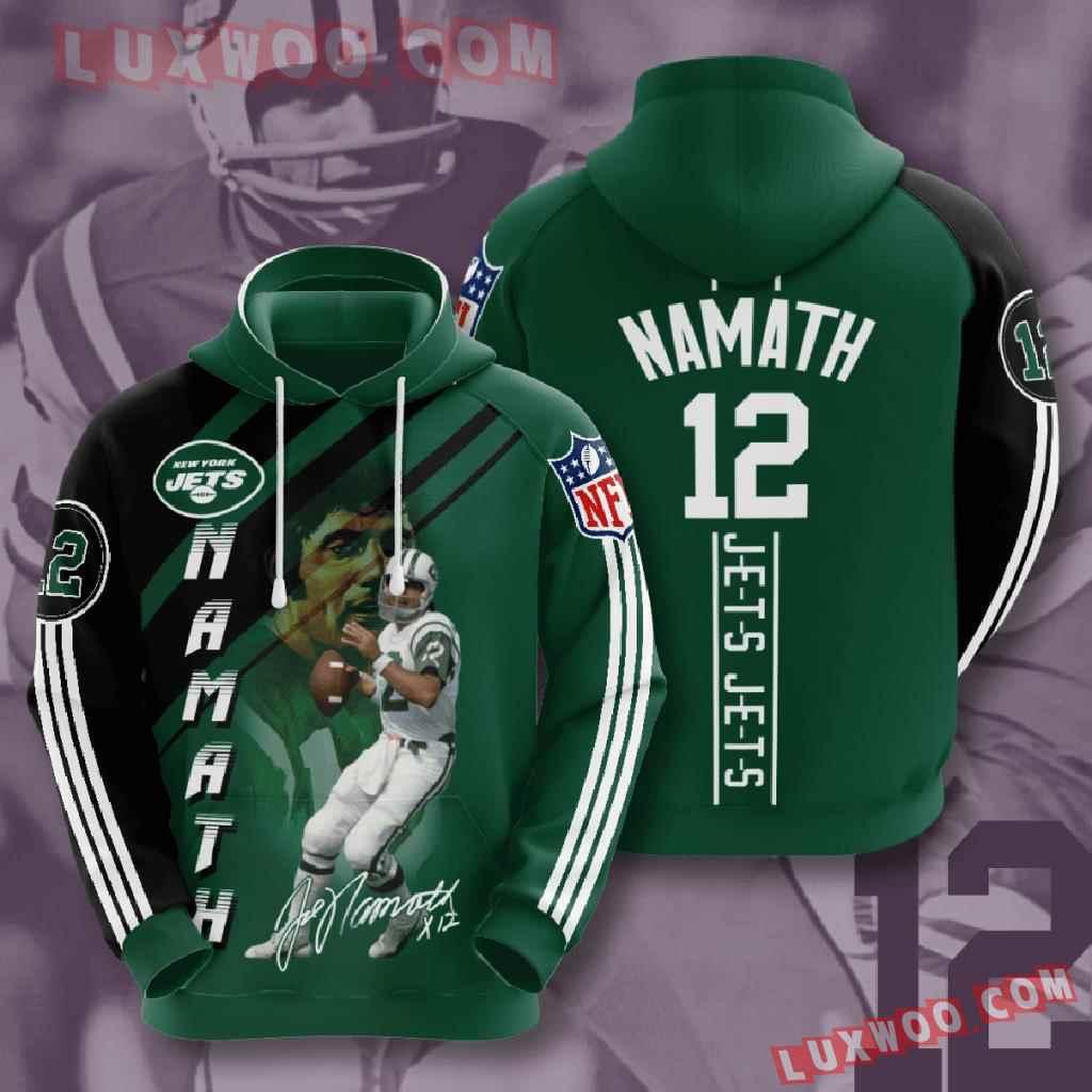 Nfl New York Jets 3d Hoodies Printed Zip Hoodies Sweatshirt Jacket V13