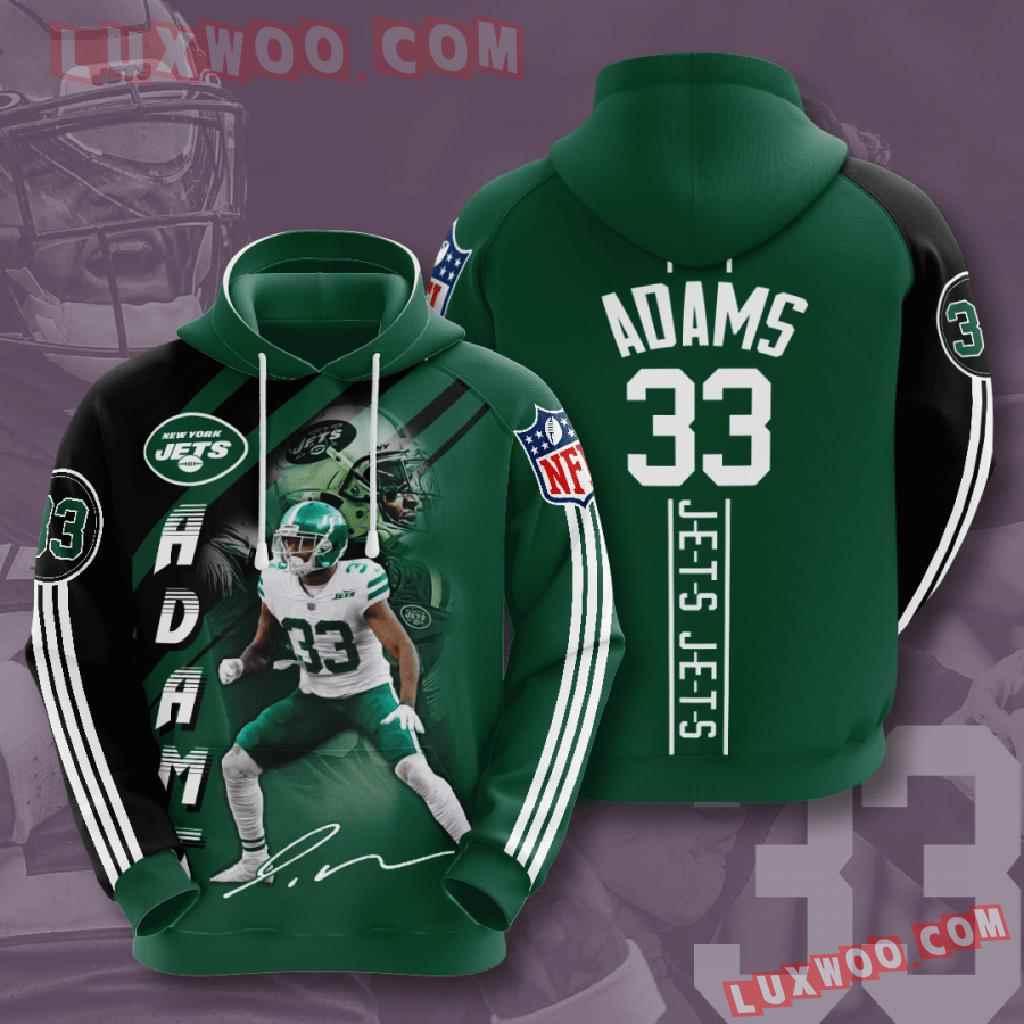 Nfl New York Jets 3d Hoodies Printed Zip Hoodies Sweatshirt Jacket V14