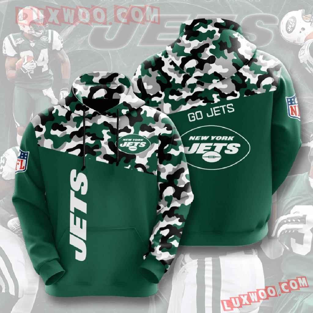 Nfl New York Jets 3d Hoodies Printed Zip Hoodies Sweatshirt Jacket V2