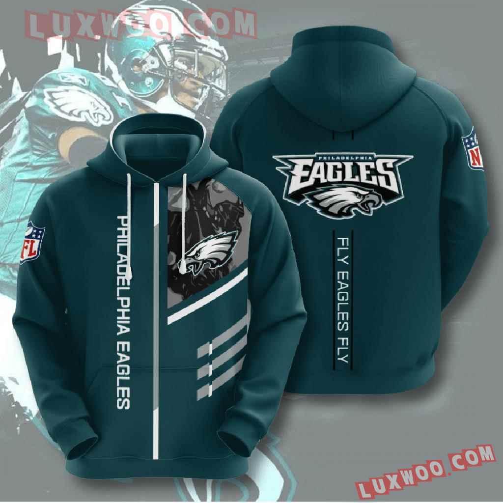 Nfl Philadelphia Eagles 3d Hoodies Printed Zip Hoodies Sweatshirt Jacket V1