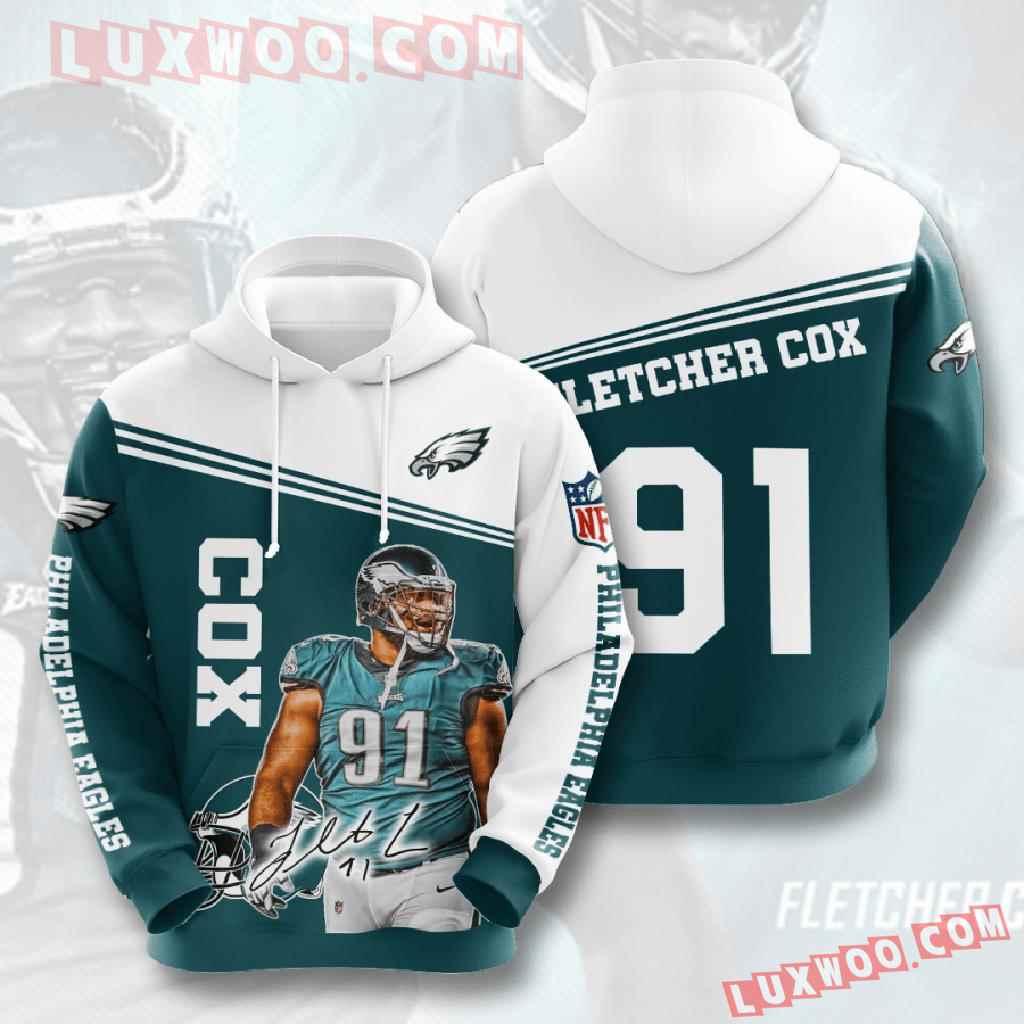 Nfl Philadelphia Eagles 3d Hoodies Printed Zip Hoodies Sweatshirt Jacket V10