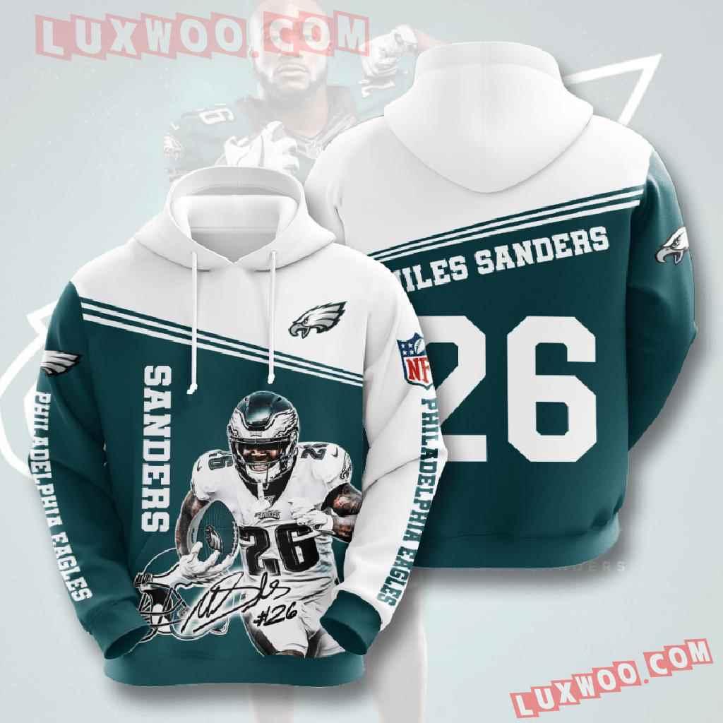 Nfl Philadelphia Eagles 3d Hoodies Printed Zip Hoodies Sweatshirt Jacket V11