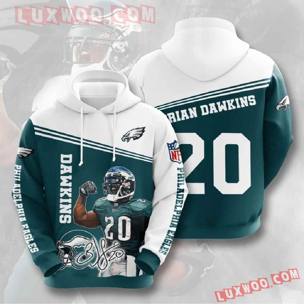 Nfl Philadelphia Eagles 3d Hoodies Printed Zip Hoodies Sweatshirt Jacket V12