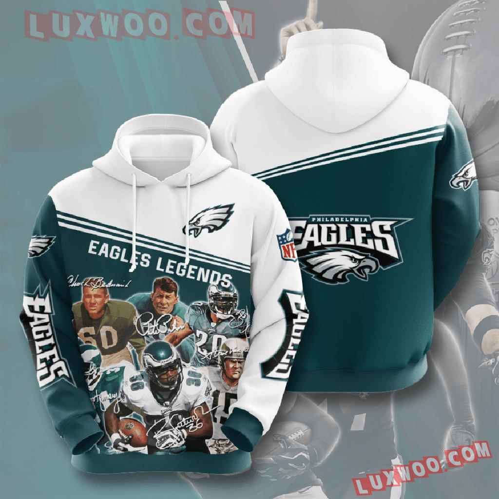 Nfl Philadelphia Eagles 3d Hoodies Printed Zip Hoodies Sweatshirt Jacket V13