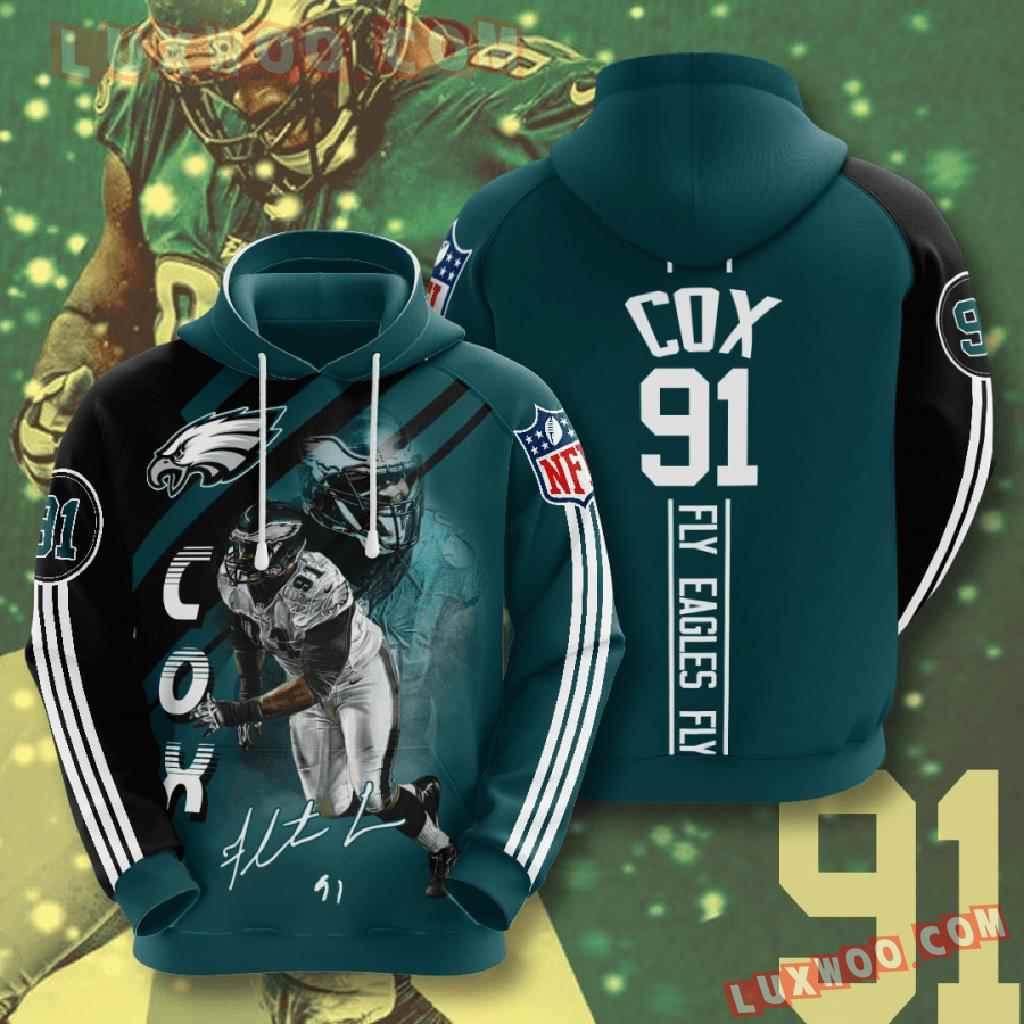 Nfl Philadelphia Eagles 3d Hoodies Printed Zip Hoodies Sweatshirt Jacket V14