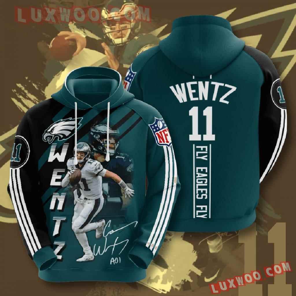 Nfl Philadelphia Eagles 3d Hoodies Printed Zip Hoodies Sweatshirt Jacket V15