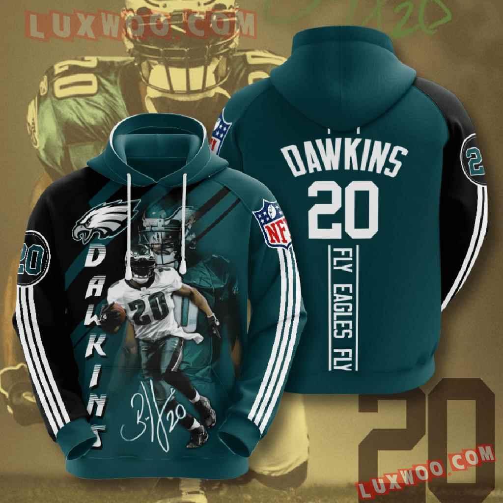 Nfl Philadelphia Eagles 3d Hoodies Printed Zip Hoodies Sweatshirt Jacket V16