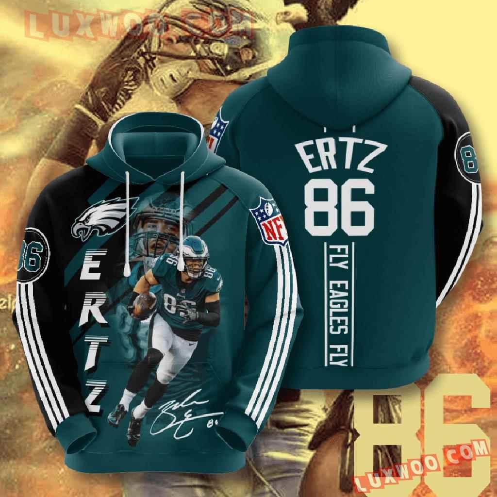 Nfl Philadelphia Eagles 3d Hoodies Printed Zip Hoodies Sweatshirt Jacket V17