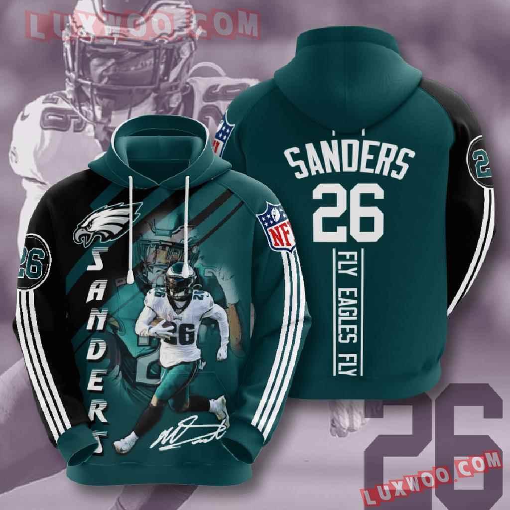 Nfl Philadelphia Eagles 3d Hoodies Printed Zip Hoodies Sweatshirt Jacket V18