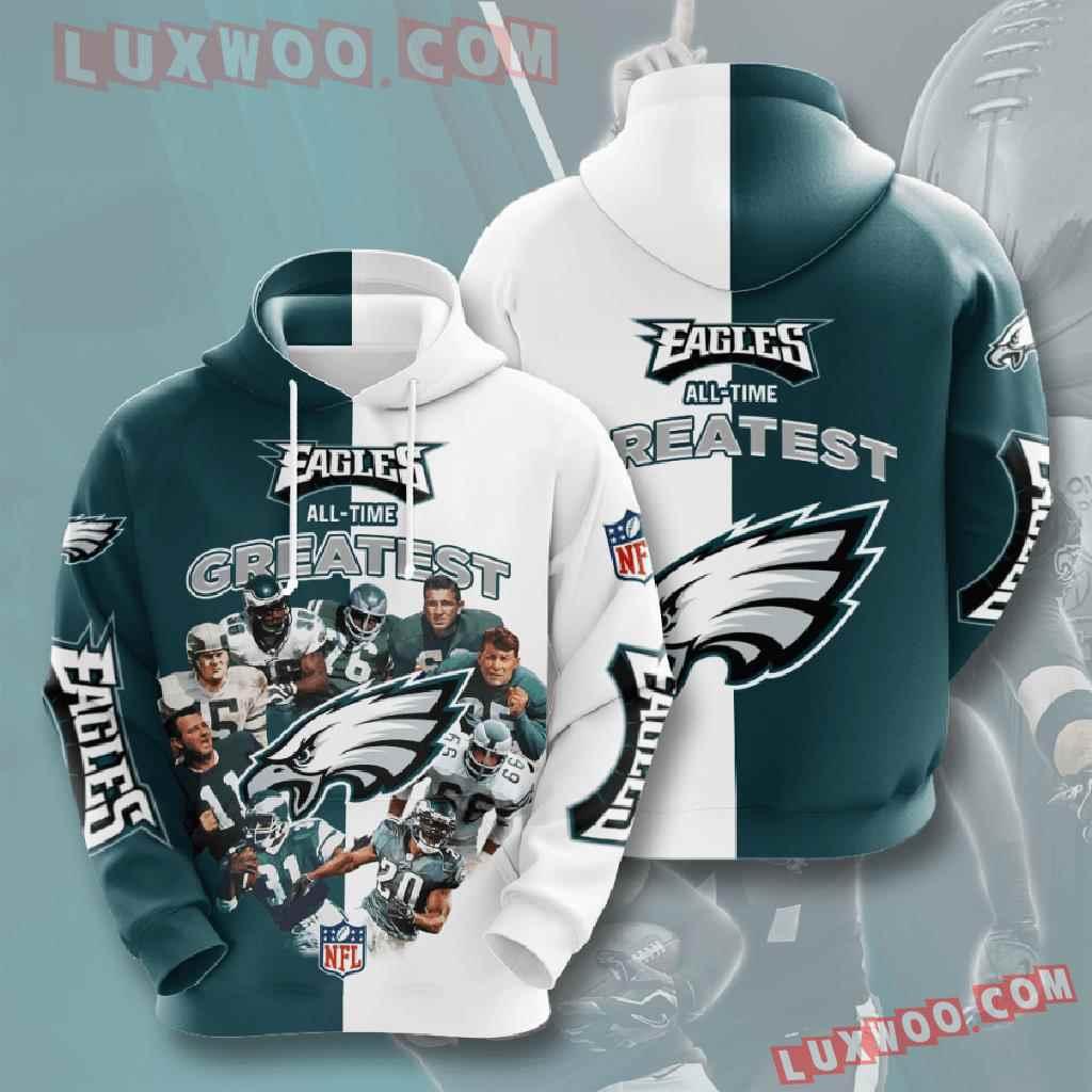 Nfl Philadelphia Eagles 3d Hoodies Printed Zip Hoodies Sweatshirt Jacket V19