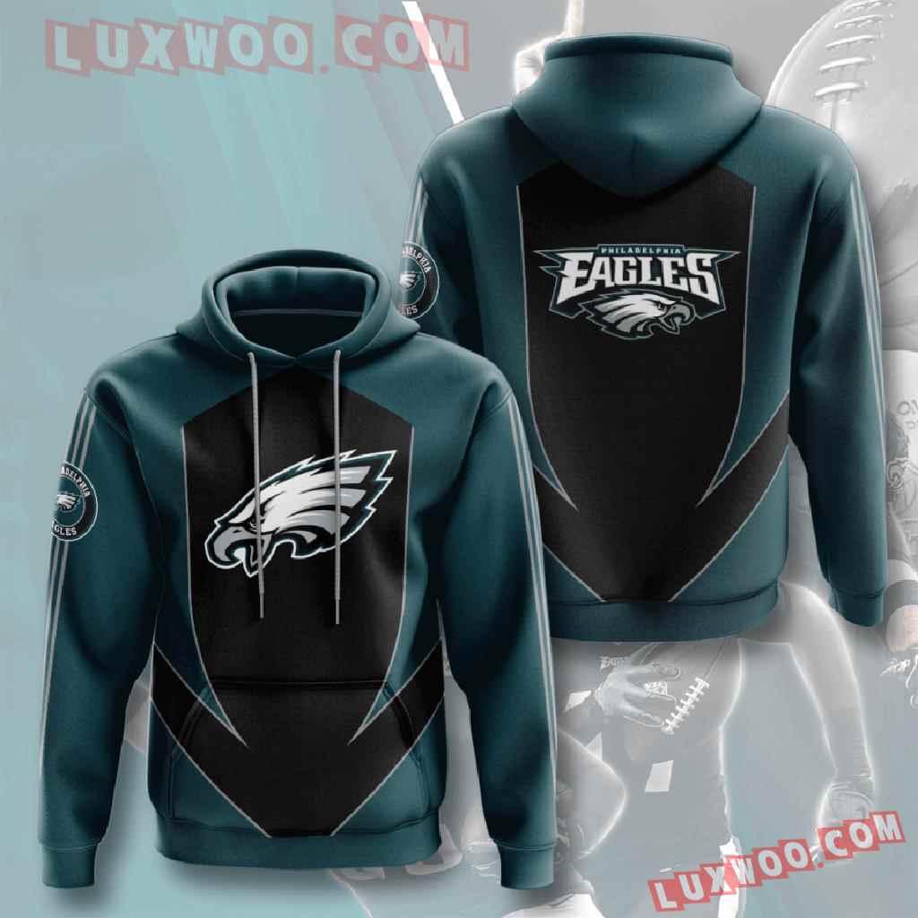 Nfl Philadelphia Eagles 3d Hoodies Printed Zip Hoodies Sweatshirt Jacket V2