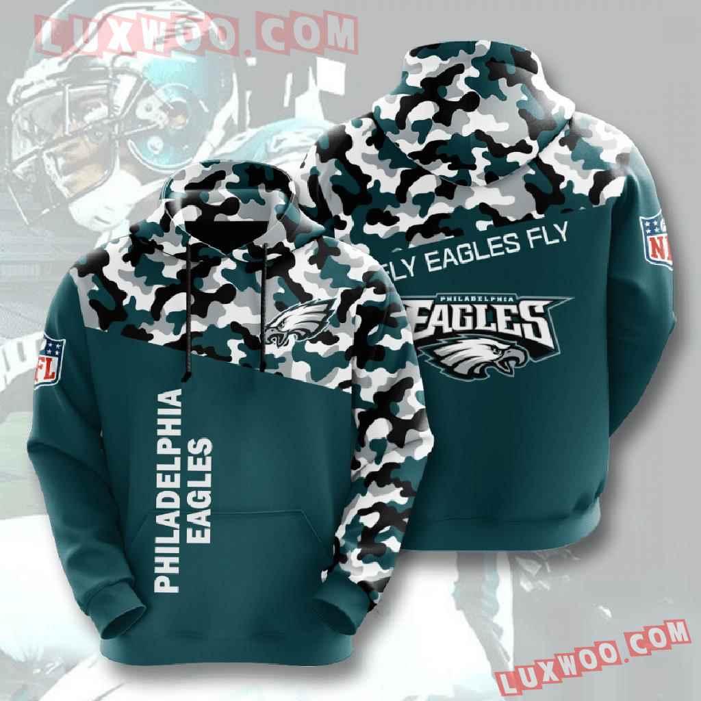 Nfl Philadelphia Eagles 3d Hoodies Printed Zip Hoodies Sweatshirt Jacket V3