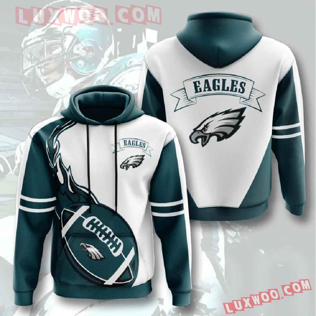 Nfl Philadelphia Eagles 3d Hoodies Printed Zip Hoodies Sweatshirt Jacket V4