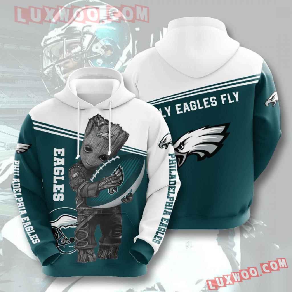 Nfl Philadelphia Eagles 3d Hoodies Printed Zip Hoodies Sweatshirt Jacket V6