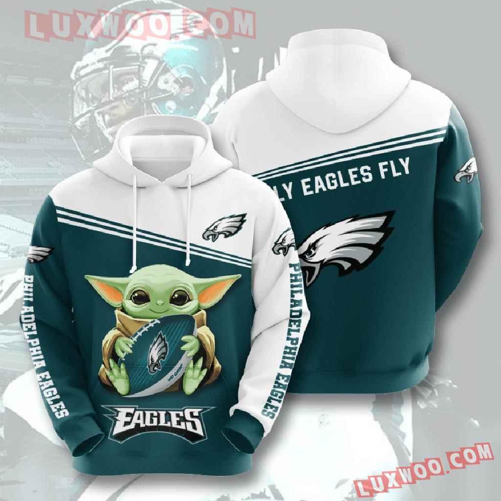 Nfl Philadelphia Eagles 3d Hoodies Printed Zip Hoodies Sweatshirt Jacket V7