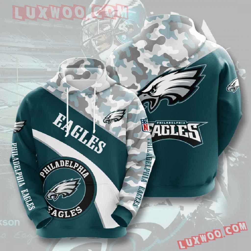 Nfl Philadelphia Eagles 3d Hoodies Printed Zip Hoodies Sweatshirt Jacket V8