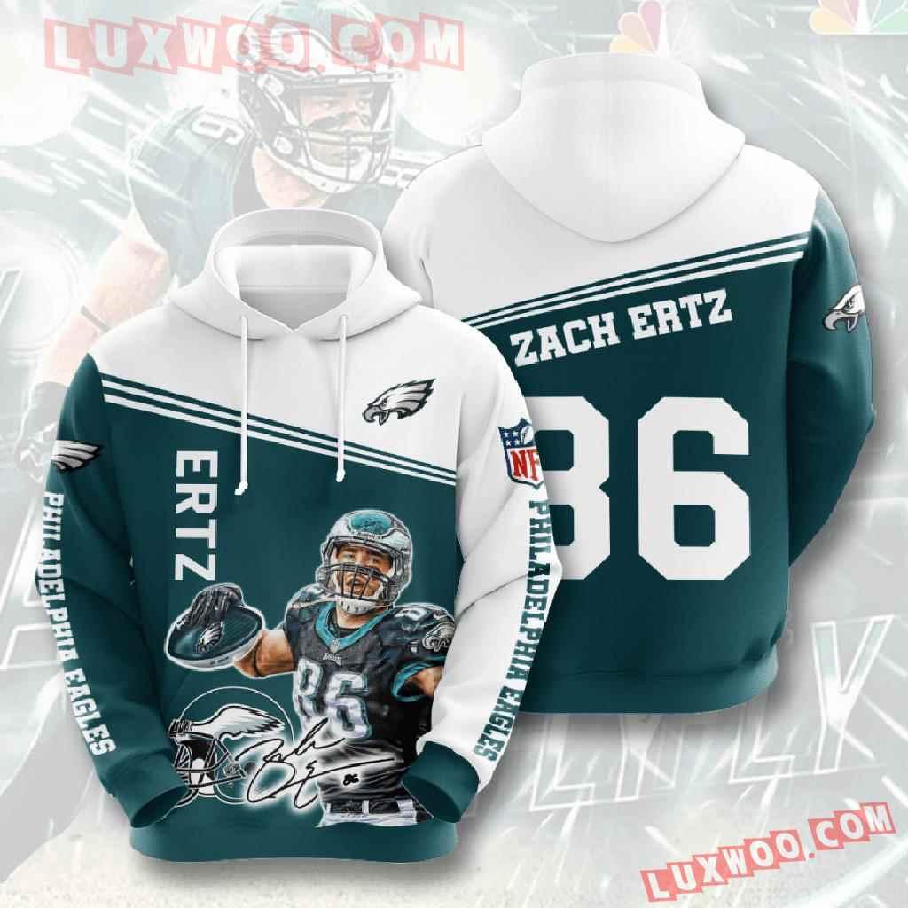 Nfl Philadelphia Eagles 3d Hoodies Printed Zip Hoodies Sweatshirt Jacket V9