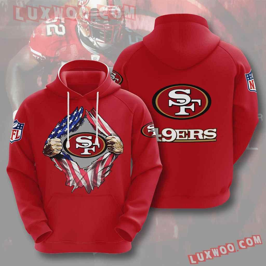 Nfl San Francisco 49ers 3d Hoodies Printed Zip Hoodies Sweatshirt Jacket V1