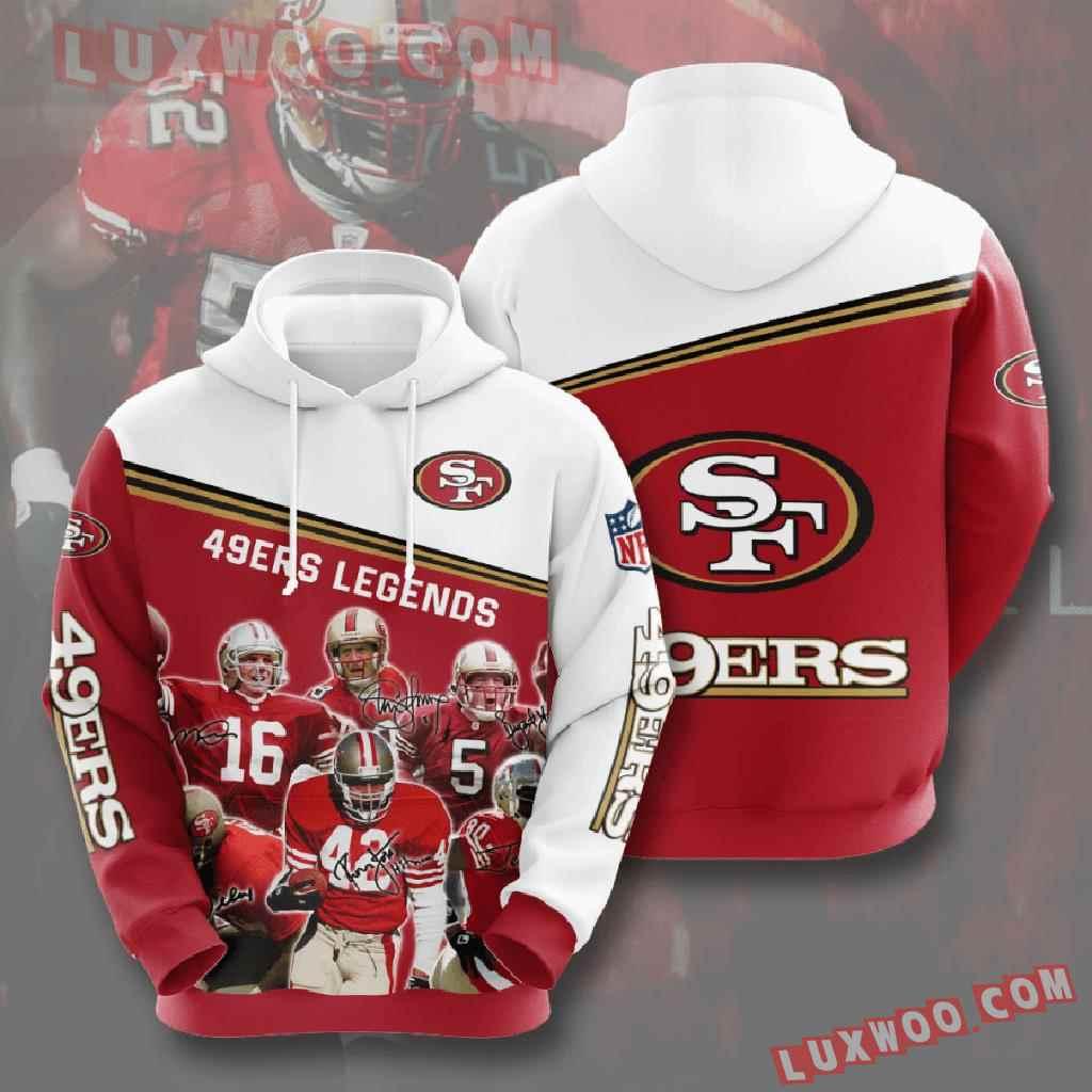 Nfl San Francisco 49ers 3d Hoodies Printed Zip Hoodies Sweatshirt Jacket V10