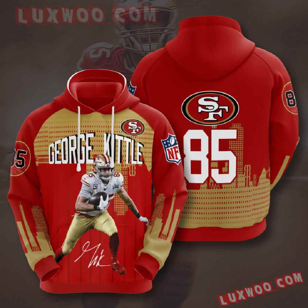 Nfl San Francisco 49ers 3d Hoodies Printed Zip Hoodies Sweatshirt Jacket V12
