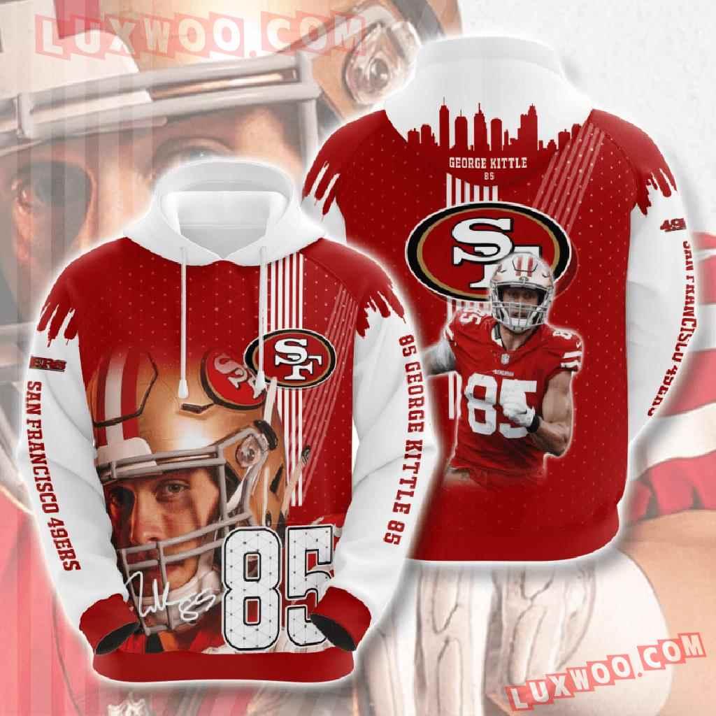 Nfl San Francisco 49ers 3d Hoodies Printed Zip Hoodies Sweatshirt Jacket V13
