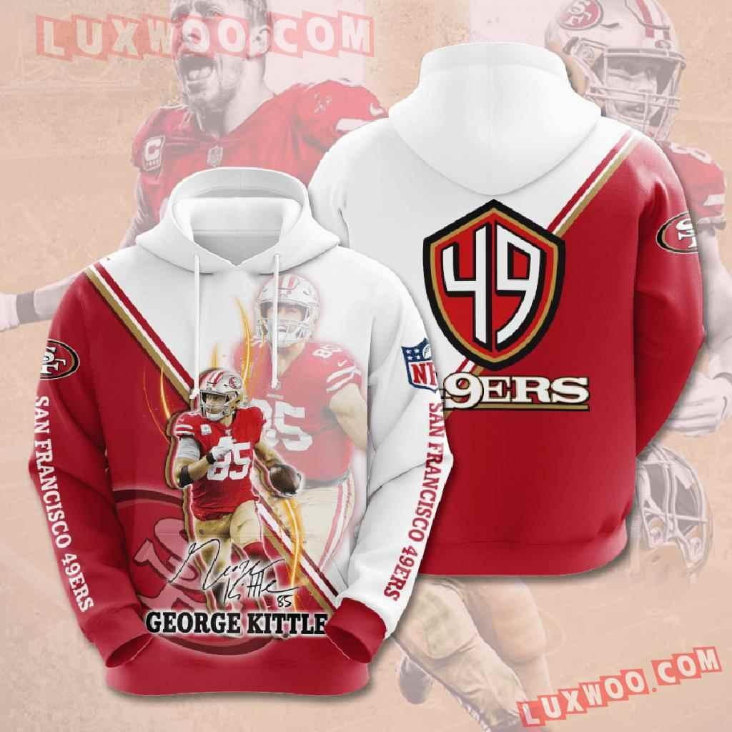 Nfl San Francisco 49ers 3d Hoodies Printed Zip Hoodies Sweatshirt Jacket V15
