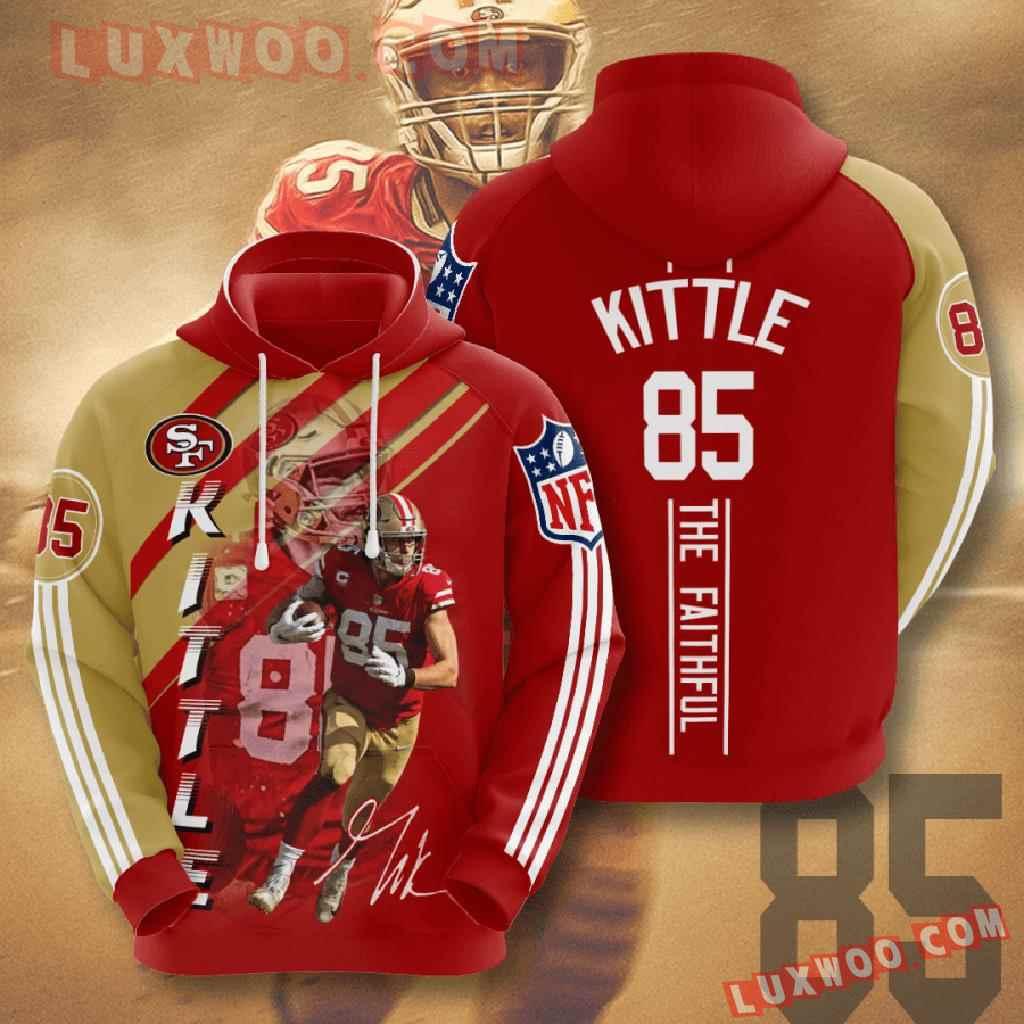 Nfl San Francisco 49ers 3d Hoodies Printed Zip Hoodies Sweatshirt Jacket V16