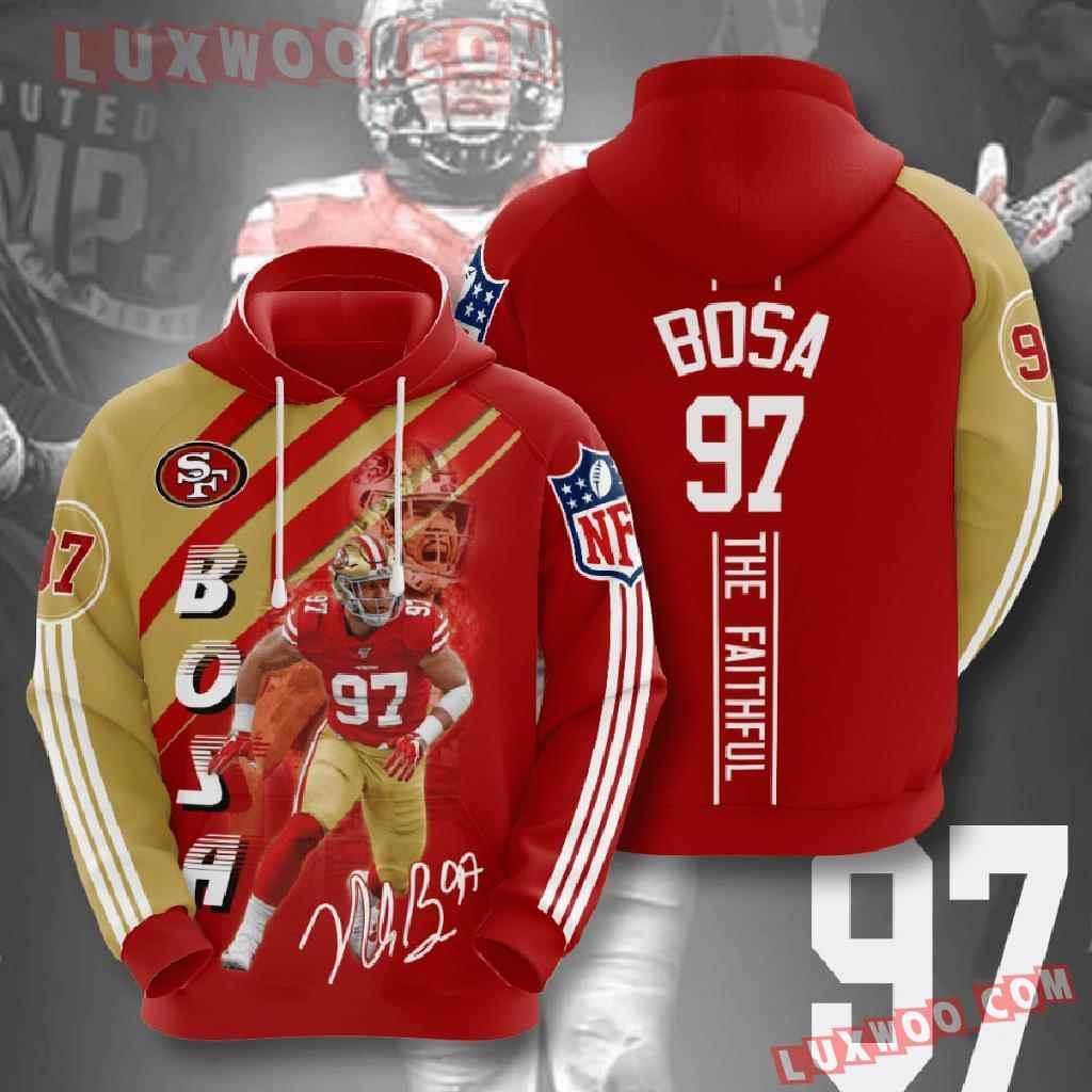 Nfl San Francisco 49ers 3d Hoodies Printed Zip Hoodies Sweatshirt Jacket V17