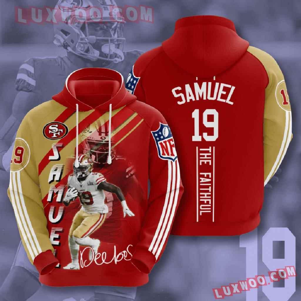 Nfl San Francisco 49ers 3d Hoodies Printed Zip Hoodies Sweatshirt Jacket V19