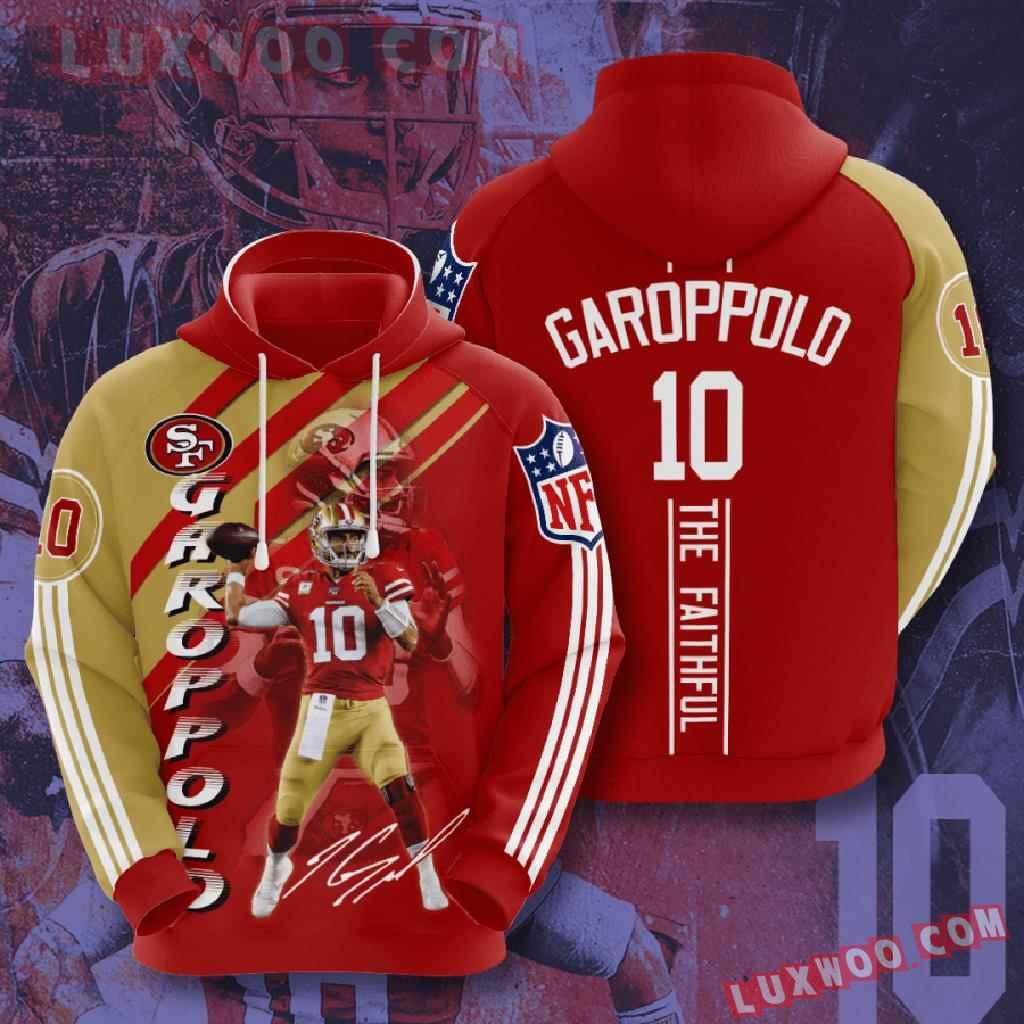 Nfl San Francisco 49ers 3d Hoodies Printed Zip Hoodies Sweatshirt Jacket V20
