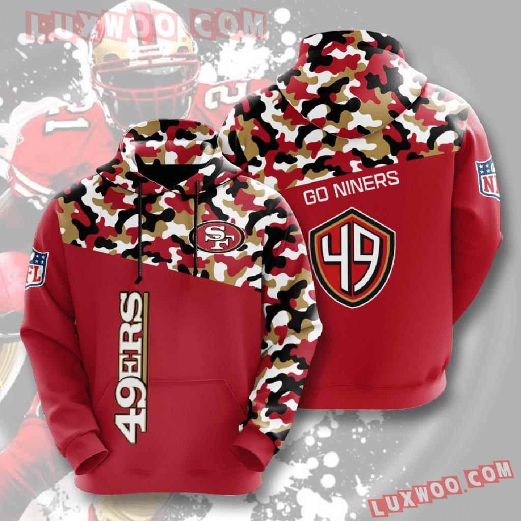 Nfl San Francisco 49ers 3d Hoodies Printed Zip Hoodies Sweatshirt Jacket V3