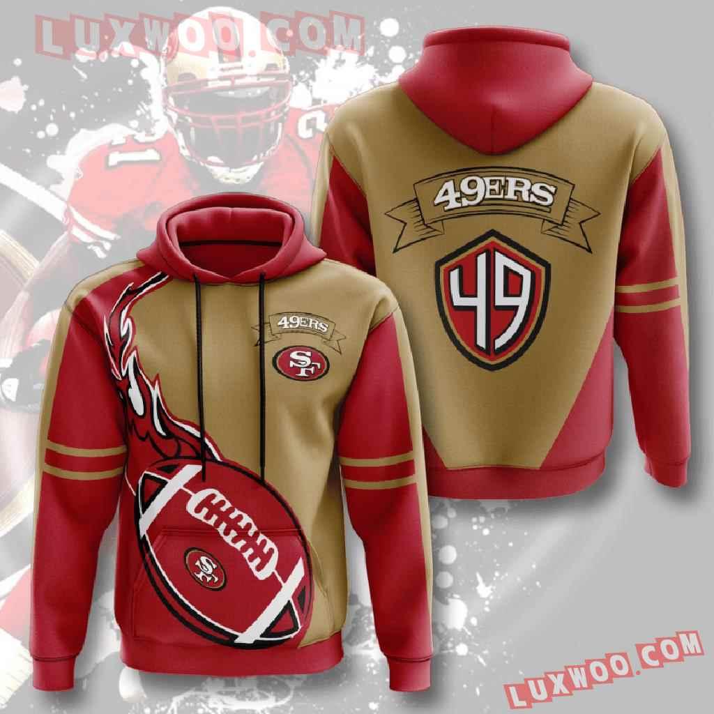 Nfl San Francisco 49ers 3d Hoodies Printed Zip Hoodies Sweatshirt Jacket V4