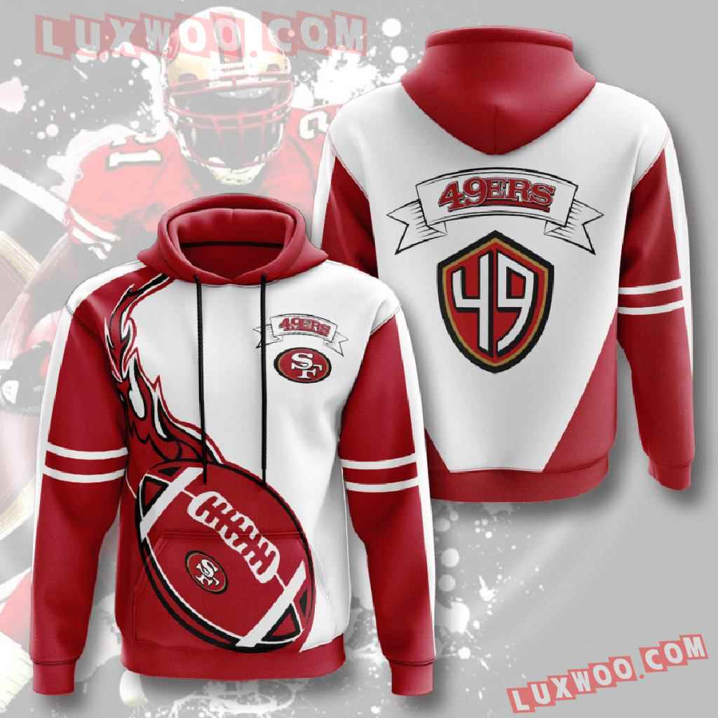 Nfl San Francisco 49ers 3d Hoodies Printed Zip Hoodies Sweatshirt Jacket V5