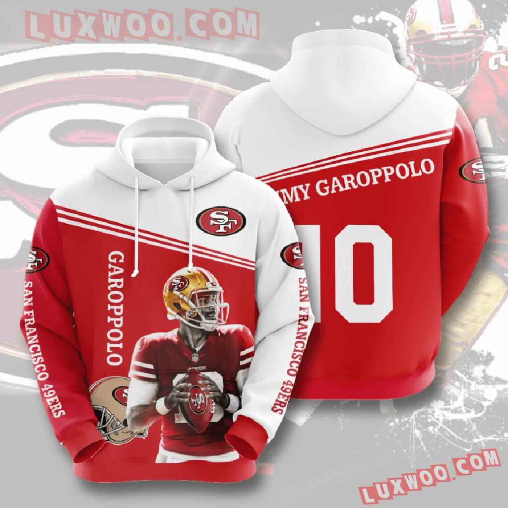 Nfl San Francisco 49ers 3d Hoodies Printed Zip Hoodies Sweatshirt Jacket V6