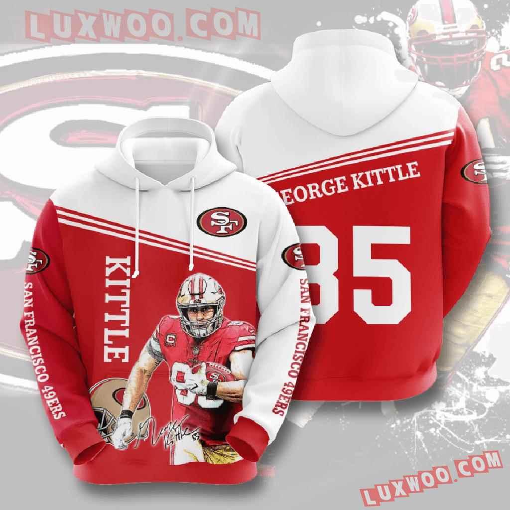 Nfl San Francisco 49ers 3d Hoodies Printed Zip Hoodies Sweatshirt Jacket V7