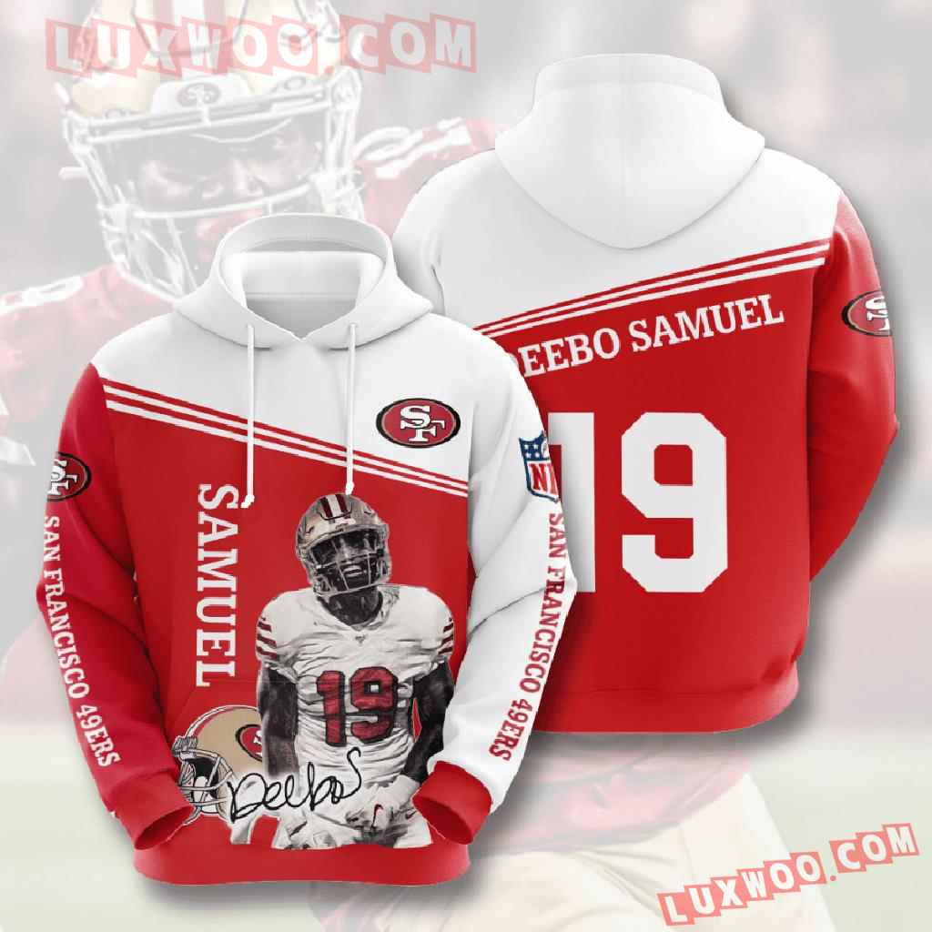 Nfl San Francisco 49ers 3d Hoodies Printed Zip Hoodies Sweatshirt Jacket V8