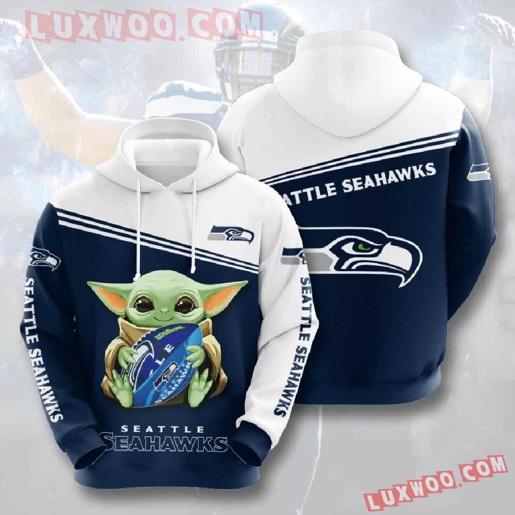 Nfl Seattle Seahawks 3d Hoodies Printed Zip Hoodies Sweatshirt Jacket V10
