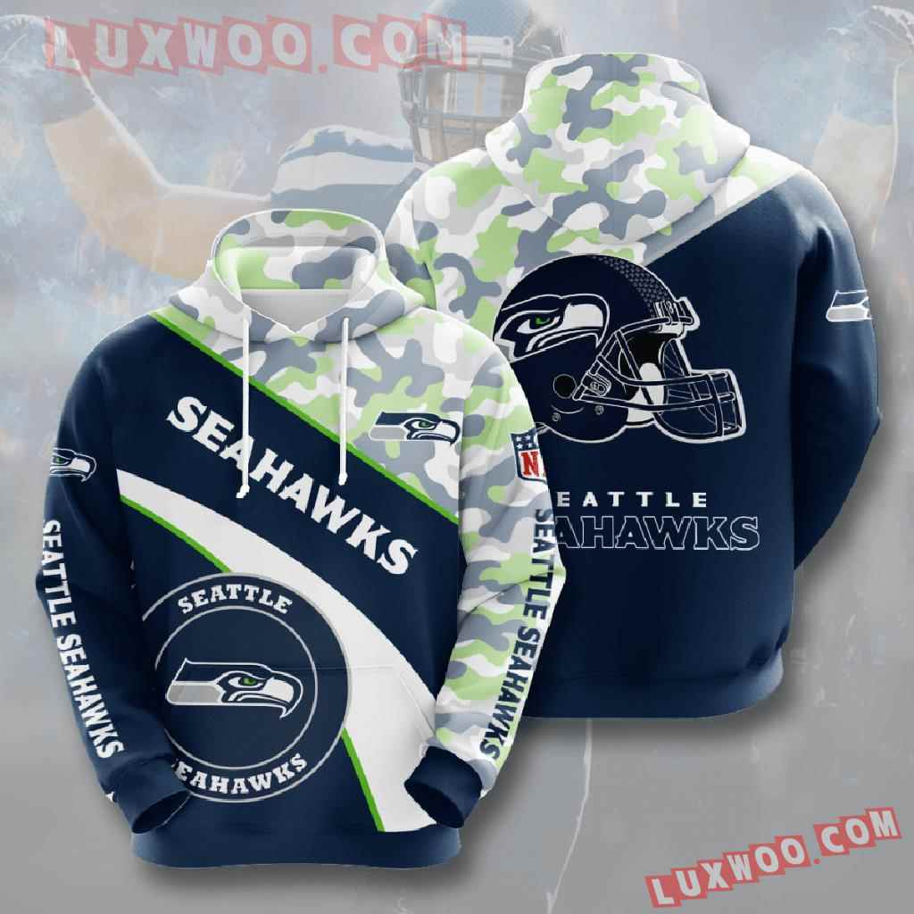 Nfl Seattle Seahawks 3d Hoodies Printed Zip Hoodies Sweatshirt Jacket V11