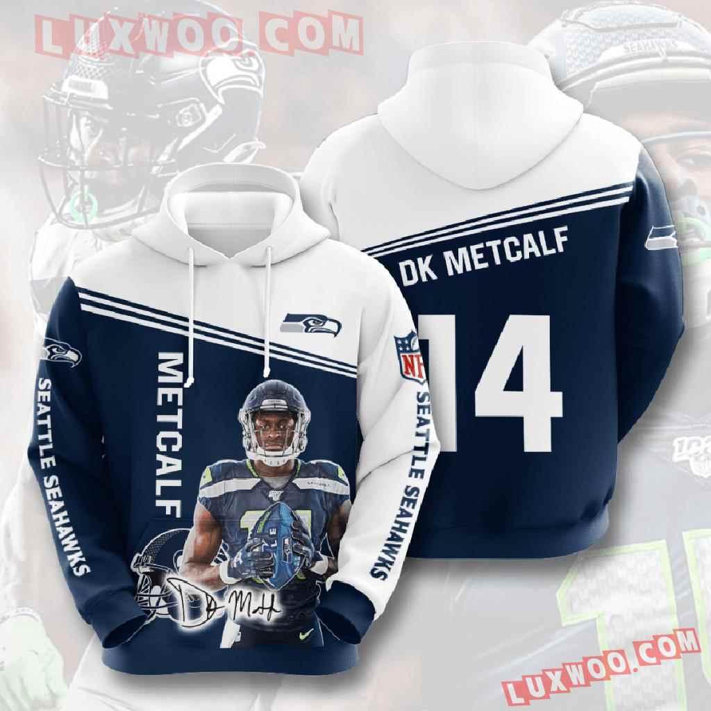 Nfl Seattle Seahawks 3d Hoodies Printed Zip Hoodies Sweatshirt Jacket V12