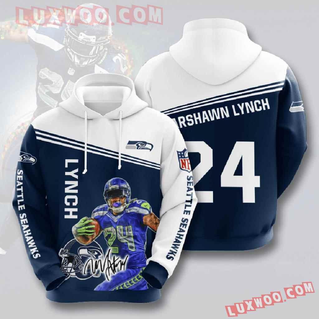 Nfl Seattle Seahawks 3d Hoodies Printed Zip Hoodies Sweatshirt Jacket V13