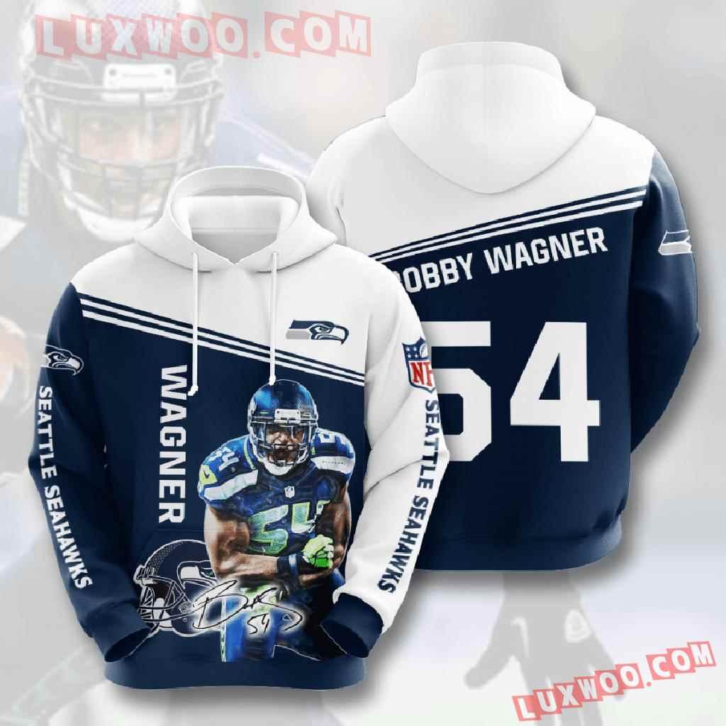 Nfl Seattle Seahawks 3d Hoodies Printed Zip Hoodies Sweatshirt Jacket V14