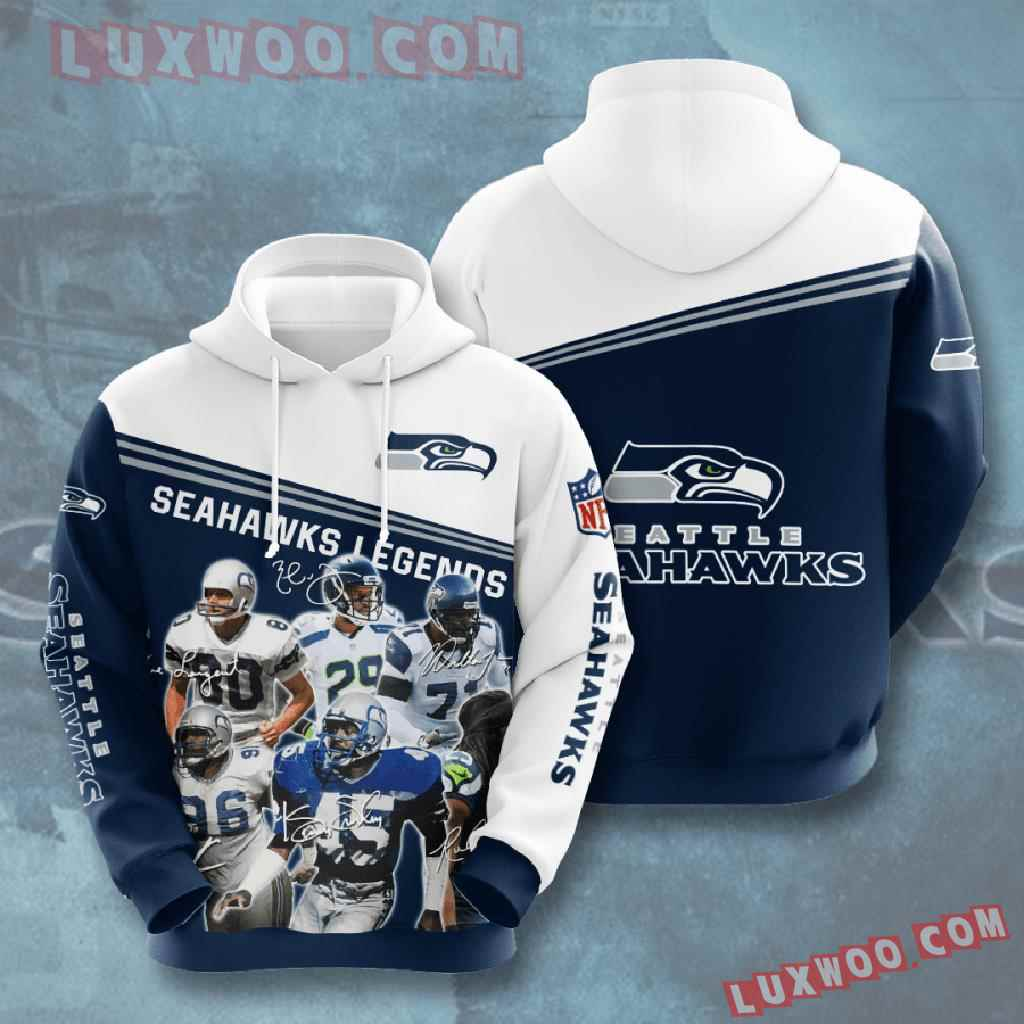 Nfl Seattle Seahawks 3d Hoodies Printed Zip Hoodies Sweatshirt Jacket V16