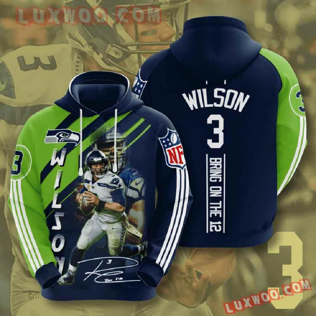 Nfl Seattle Seahawks 3d Hoodies Printed Zip Hoodies Sweatshirt Jacket V17