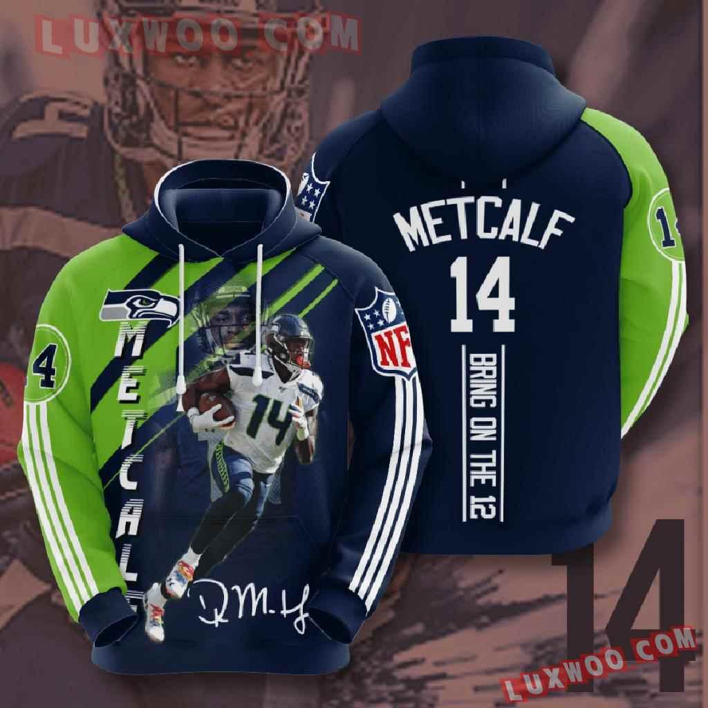 Nfl Seattle Seahawks 3d Hoodies Printed Zip Hoodies Sweatshirt Jacket V18