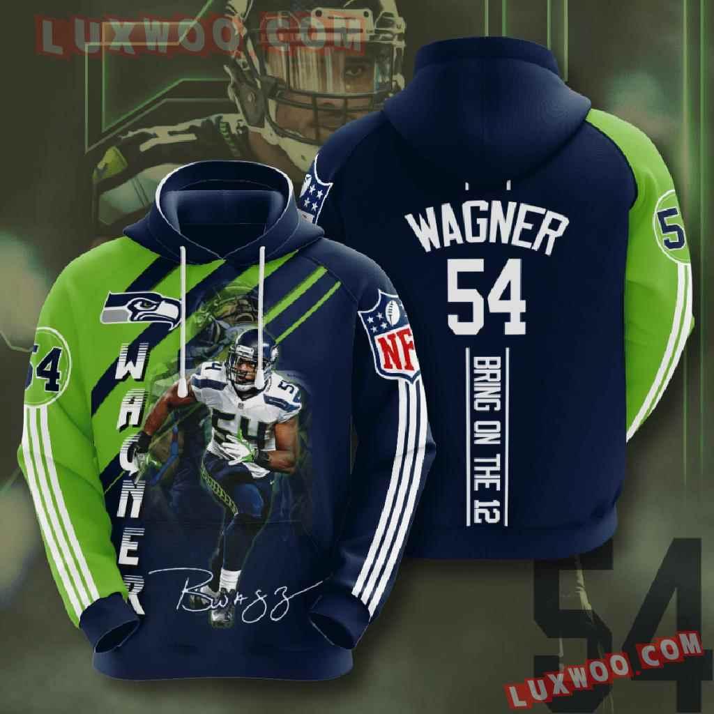 Nfl Seattle Seahawks 3d Hoodies Printed Zip Hoodies Sweatshirt Jacket V19