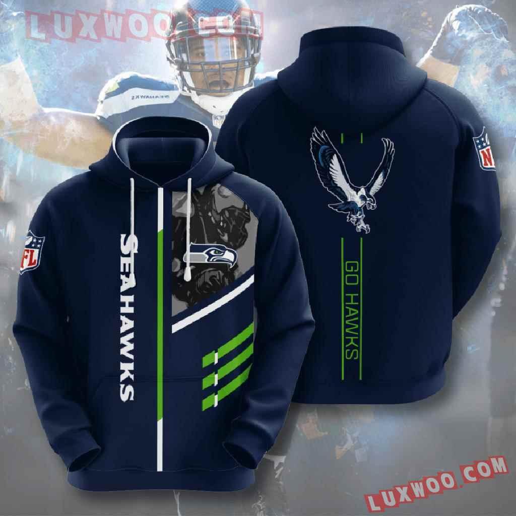 Nfl Seattle Seahawks 3d Hoodies Printed Zip Hoodies Sweatshirt Jacket V2