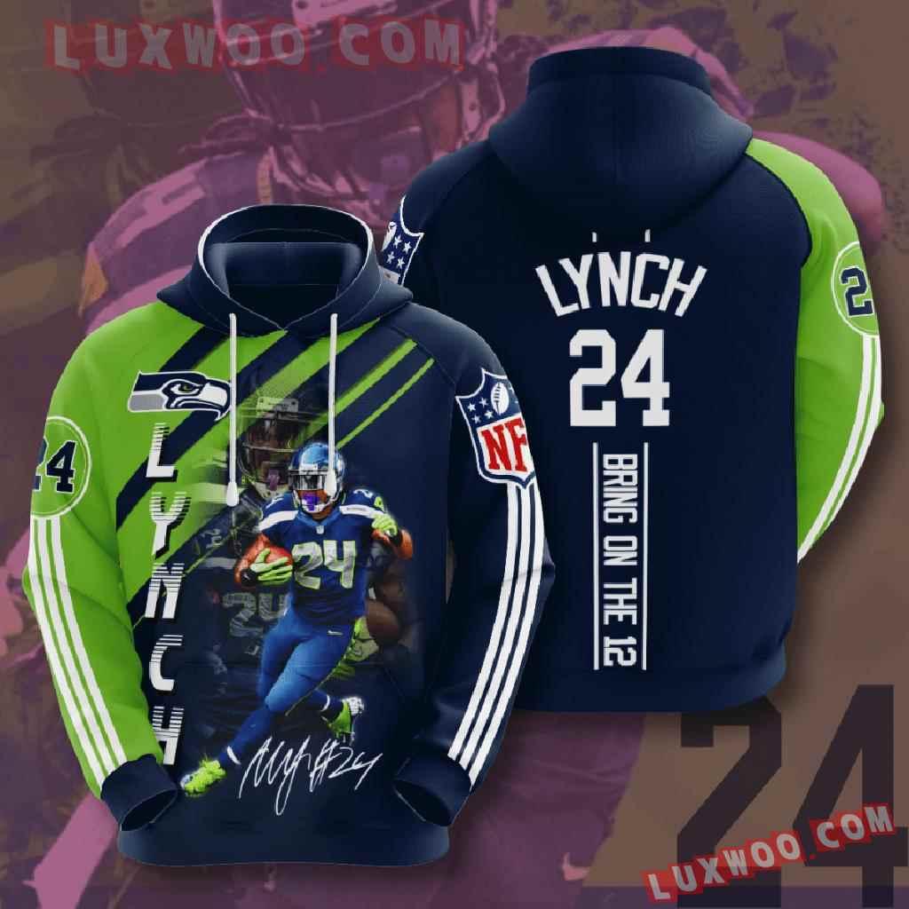 Nfl Seattle Seahawks 3d Hoodies Printed Zip Hoodies Sweatshirt Jacket V20