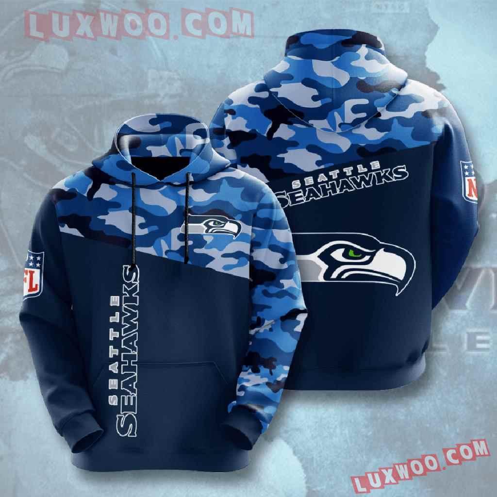 Nfl Seattle Seahawks 3d Hoodies Printed Zip Hoodies Sweatshirt Jacket V3